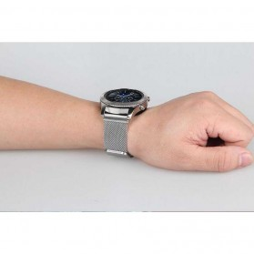 Milanese Strap Watchband Stainless Steel 20mm for Samsung Gear S2 - WS0030 - Black - 4