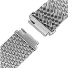 Milanese Strap Watchband Stainless Steel 22mm for Samsung Gear S3 - WS0030 - Silver - 2