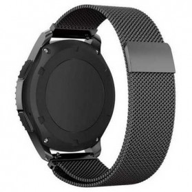 Milanese Strap Watchband Stainless Steel 22mm for Samsung Gear S3 - WS0030 - Black