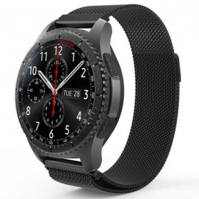Milanese Strap Watchband Stainless Steel 22mm for Samsung Gear S3 - WS0030 - Black - 5