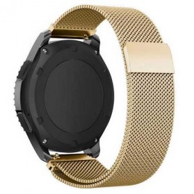 Milanese Strap Watchband Stainless Steel 22mm for Samsung Gear S3 - WS0030 - Golden