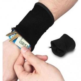 Tas Pergelangan Tangan Olahraga Sport Wrist Wallet Armband Bag - WKX00021 - Black