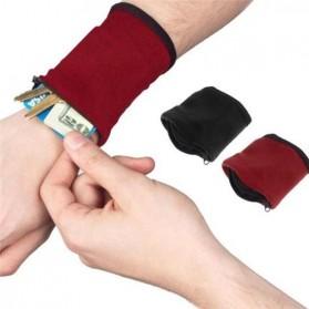 Tas Pergelangan Tangan Olahraga Sport Wrist Wallet Armband Bag - WKX00021 - Red
