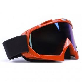 Kacamata Motor Motocross Ski Goggles Eye Protection Windproof - H013 - Orange