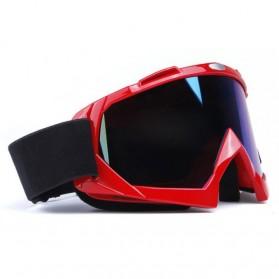 Kacamata Motor Motocross Ski Goggles Eye Protection Windproof - H013 - Orange - 3
