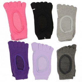 Kaos Kaki Khusus Yoga Anti Slip Size 34-39 - N1503 - Black - 5