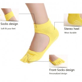 Kaos Kaki Khusus Yoga Anti Slip Size 34-39 - N1503 - Black - 6