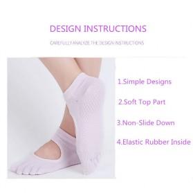 Kaos Kaki Khusus Yoga Anti Slip Size 34-39 - N1503 - Black - 9