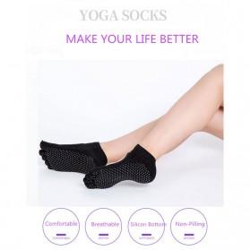 Kaos Kaki Khusus Yoga Anti Slip Size 34-39 - N1503 - Black - 10