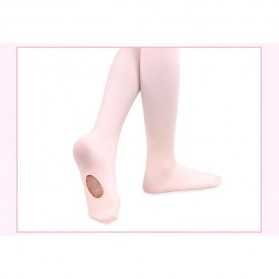 Stocking Balet Anak Microfiber Dance Tights Size S - KW608 - White - 5