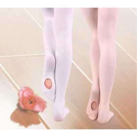 Stocking Balet Anak Microfiber Dance Tights Size S - KW608 - White - 8