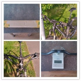 MTB Bicycle Handlebar Sepeda Carbon Fiber Glossy 680mm Model 001 - BXT-HB - Black - 5