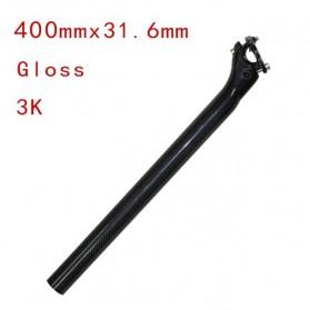 Tiang Dudukan Jok Sepeda Full Carbon Glossy Seatpost 400 x 31.6mm - SP-006 - Black