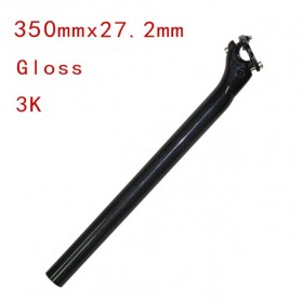 Tiang Dudukan Jok Sepeda Full Carbon Glossy Seatpost 350 x 27.2mm - SP-006 - Black