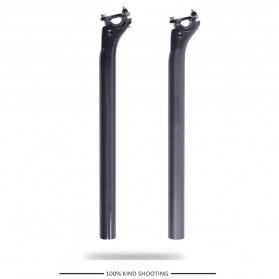 Tiang Dudukan Jok Sepeda Full Carbon Glossy Seatpost 350 x 27.2mm - SP-006 - Black - 8