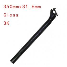 Tiang Dudukan Jok Sepeda Full Carbon Glossy Seatpost 350 x 31.6mm - SP-006 - Black