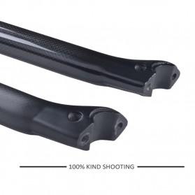 Tiang Dudukan Jok Sepeda Full Carbon Glossy Seatpost 350 x 31.6mm - SP-006 - Black - 4