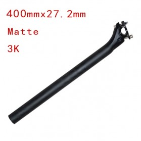 Tiang Dudukan Jok Sepeda Full Carbon Matte Seatpost 400 x 27.2mm - SP-006 - Black