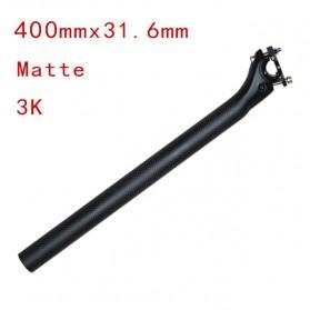 Tiang Dudukan Jok Sepeda Full Carbon Matte Seatpost 400 x 31.6mm - SP-006 - Black