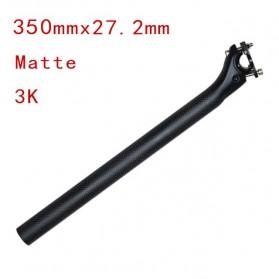 Tiang Dudukan Jok Sepeda Full Carbon Matte Seatpost 350 x 27.2mm - SP-006 - Black