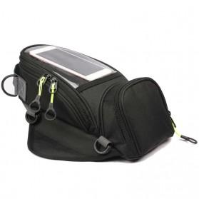 Tankbag Tas Motor Magnetic Hybrid dengan Holder Smartphone - 54648 - Black - 2