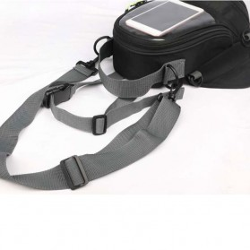 Tankbag Tas Motor Magnetic Hybrid dengan Holder Smartphone - 54648 - Black - 5