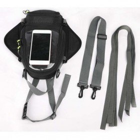 Tankbag Tas Motor Magnetic Hybrid dengan Holder Smartphone - 54648 - Black - 8