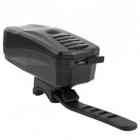Lampu Alarm Klakson Sepeda Waterproof Anti Theft - SJ-10530 - Black - 2