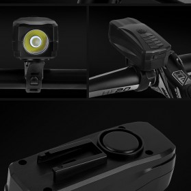 Lampu Alarm Klakson Sepeda Waterproof Anti Theft - SJ-10530 - Black - 5
