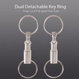 Forfar Gantungan Kunci EDC Key Ring Carabiner Snap Lock Pull Apart 1 PCS - AG01 - Silver