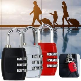 Gembok Koper Kode Angka 3 Digit Padlock Travel Luggage - TSA338 - Black