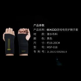 Exco Sarung Tangan Professional Gaming Ergonomic Glove - MSP-018 - Black - 9