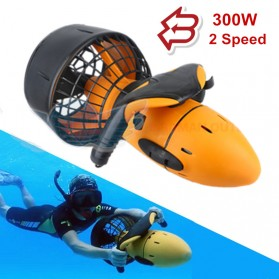 SHUKEDA Electric Underwater Sea Scooter Scuba Diving Dual Speed Propeller 300W - BM7281 - Yellow