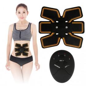 TOMSHOO Alat Stimulator Terapi EMS Otot Six Pack Muscle Stimulator Fat Burner - Black - 4