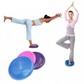 VKTECH Bola Yoga Stability Cushion Acupressure Massage Gym Flat Ball 34 cm - Blue