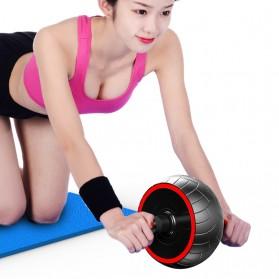 Power Roller Alat Fitness Abdominal Wheel Trainer - WT-E101 - Black