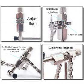 TaffSPORT 4 in 1 Perlengkapan Reparasi Rantai Sepeda Bicycle Chain Socket Tool Set - BT2919 - Silver - 6