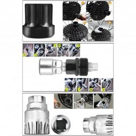 VXM 5 in 1 Perlengkapan Reparasi Rantai Sepeda Bicycle Chain Socket Tool Set - Silver - 3