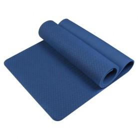 Karpet Pilates Yoga Mat Anti Slip TPE 183 x 61 CM - SD11002 - Dark Blue