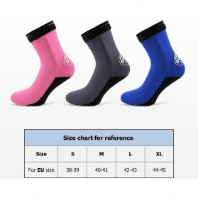 Scuba Donkey Kaos Kaki Selam Scuba Diving Socks Size XL - 214SP - Gray - 8