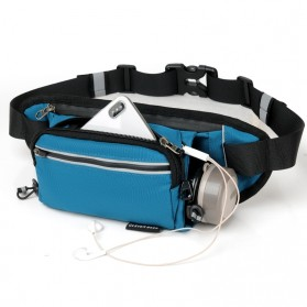 CLEVER BEES Tas Pinggang Holder Botol Minum Sporty Waist Bag - L126 - Black - 2