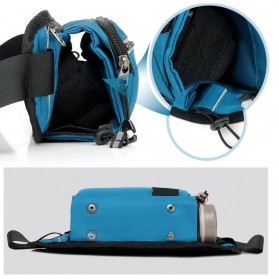 CLEVER BEES Tas Pinggang Holder Botol Minum Sporty Waist Bag - L126 - Black - 8