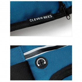 CLEVER BEES Tas Pinggang Holder Botol Minum Sporty Waist Bag - L128 - Black - 4