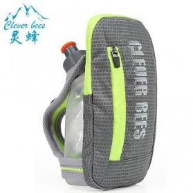 CLEVER BEES Tas Holder Botol Minum Olahraga Running Armbag - L76 - Gray - 1
