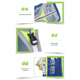 CLEVER BEES Tas Holder Botol Minum Olahraga Running Armbag - L76 - Gray - 8