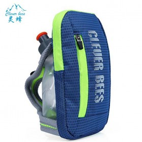 CLEVER BEES Tas Holder Botol Minum Olahraga Running Armbag - L76 - Blue