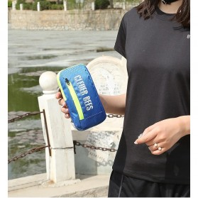 CLEVER BEES Tas Holder Botol Minum Olahraga Running Armbag - L76 - Blue - 4
