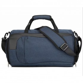 CLEVER BEES Tas Duffel Olahraga Yoga Gym Fitness dan Travel - L118 - Navy Blue