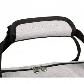 CLEVER BEES Tas Duffel Olahraga Yoga Gym Fitness dan Travel - L118 - Navy Blue - 3