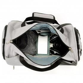CLEVER BEES Tas Duffel Olahraga Yoga Gym Fitness dan Travel - L118 - Navy Blue - 4